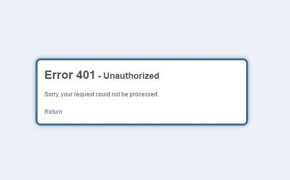 آموزش رفع خطای Search Results Web results 401 Unauthorized